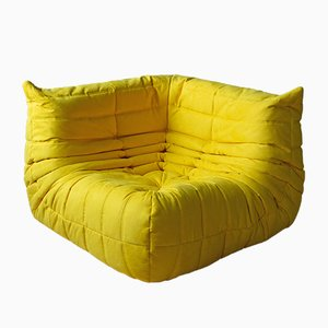 Togo Yellow Microfiber Corner Sofa by Michel Ducaroy for Ligne Roset, 1970s