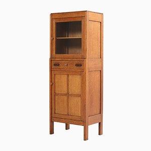 Vintage Art Deco Oak and Ebony Cabinet, 1920s