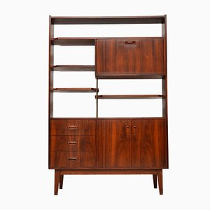 Mid-Century Rosewood Bookcase Cabinet, 1960s