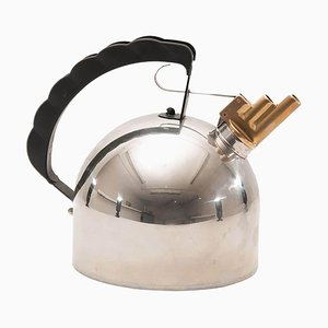Vintage Italian Model 9091 Chrome-Plated Metal Kettle, 1983