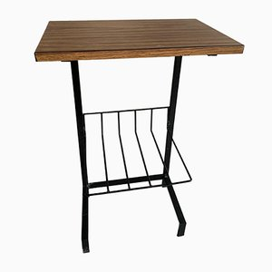 Tavolino industriale in formica e acciaio tubolare, Francia, anni '60
