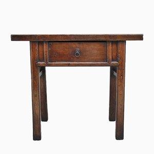 Mesa auxiliar china antigua de olmo