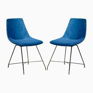 Mid-Century Stühle von Augusto Bozzi für Saporiti Italia, 1950er, 2er Set