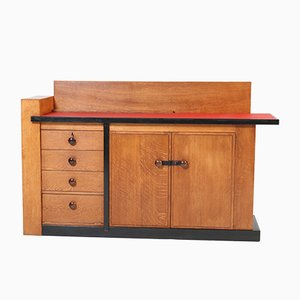 Art Deco Oak and Linoleum Credenza by Jan Brunott, 1920s
