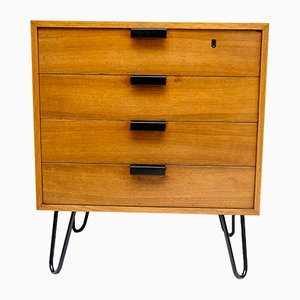 Mid-Century German Steel and Walnut Dresser, 1960s