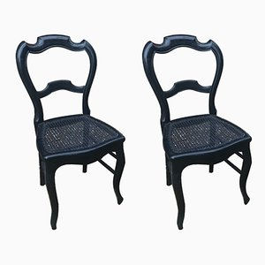 Antique Neo-Classical French Dining Chairs, Set of 2