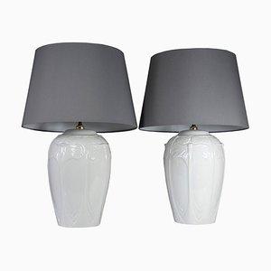 Lampes de Bureau en Faïence, Italie, 1970s, Set de 2