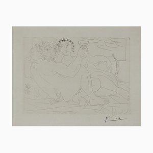 Aguafuerte de minotauro francés vintage de Pablo Picasso, 1939