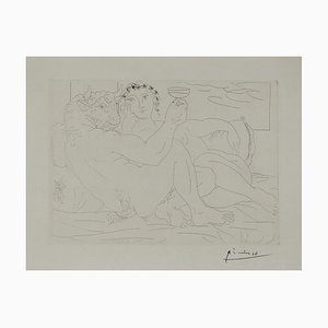 Vintage French Minotaure Etching by Pablo Picasso, 1939
