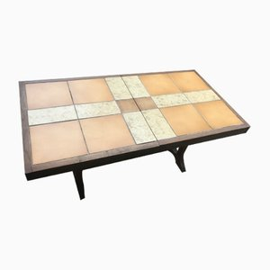 Vintage Pine Game Table with Chessboard, 1970s
