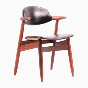 Mid-Century Danish Skai and Teak Dining Chair, 1960s