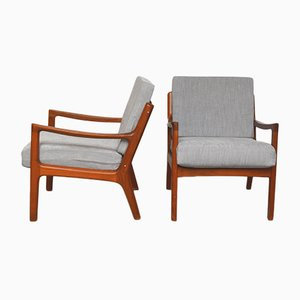 Vintage Danish Lounge Chairs by Ole Wanscher for France & Søn/France & Daverkosen, 1960s, Set of 2