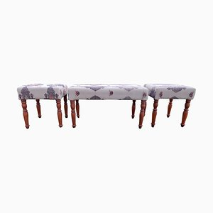 Turkish Kilim Benches from Vintage Pillow Store Contemporary, Set of 3