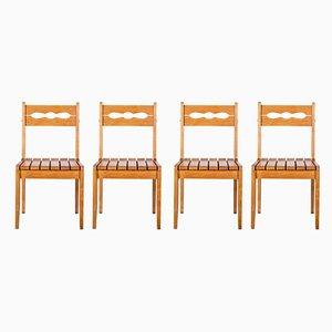 Chaises de Salle à Manger en Chêne par Guillerme et Chambron pour Votre Maison, France, 1960s, Set de 4