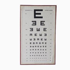 Póster de oftalmólogo vintage