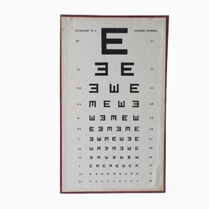 Vintage Ophthalmic Chart, 1970s