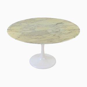 Mesa de comedor Tulk de mármol Calacatta Mid-Century, años 60