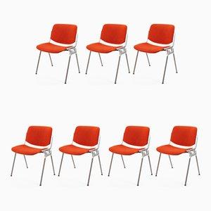 Chaises d'Appoint Vintage par Giancarlo Piretti pour Castelli / Anonima Castelli, Italie, 1970s, Set de 7