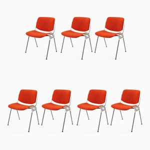 Vintage Italian Side Chairs by Giancarlo Piretti for Castelli/Anonima Castelli, 1970s, Set of 7