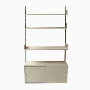 Estantería alemana vintage de aluminio, metal y madera comprimida de Dieter Rams para Vitsœ, años 60