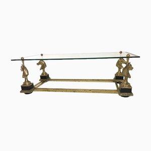 Table Basse en Bronze et Verre Taillé par Maison Charles pour Maison Charles, 1960s