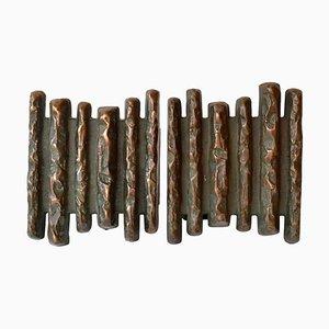 Brutalistische Türgriffe aus Bronze, 1970er, 2er Set