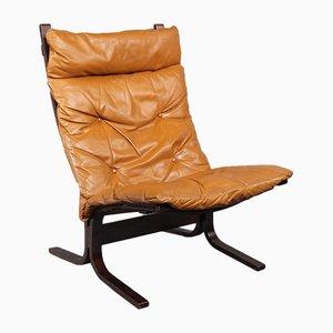 Leather Siesta Armchair by Ingmar Relling for Westnofa, 1960s