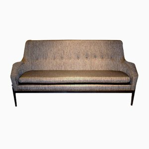 Mid-Century Scandinavian Modern Danish Linen Sofa by Lb Kofod Larsen for Faarup Møbelfabrik, 1950s