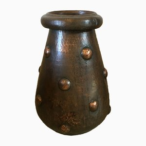 Embossed Copper Umbrella Stand, 1950s
