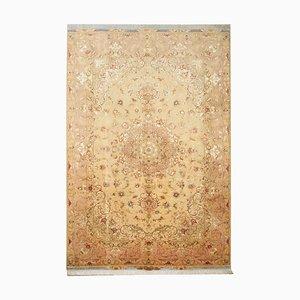 Handgefertigter Vintage Teppich aus Seide & Wolle, 1977