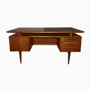 Model RT 200 Teak Desk from Heinrich Riestenpatt, 1960s