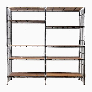 Vintage Model Multistrux Iron Modular Shelving Unit from Multimueble, 1960s