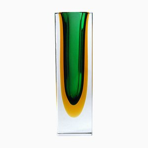 Italian Modern Cut Glass Vase by Flavio Poli for Seguso, 1960s