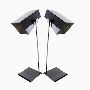 Chrome Table Lamps by Josef Hurka for Napako, 1960s, Set of 2