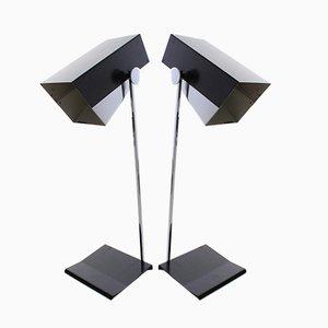Lampes de Bureau en Chrome par Josef Hurka pour Napako, 1960s, Set de 2