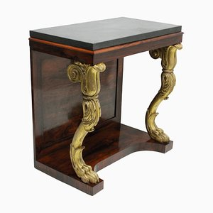 Antique Regency Rosewood & Giltwood Console Table, 1810s