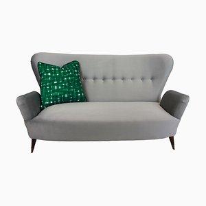 Italienisches Sofa mit Messingfüßen & Stoffbezug von Emilia Sala & Giorgio Madini für Galimberti Cantu, 1950er