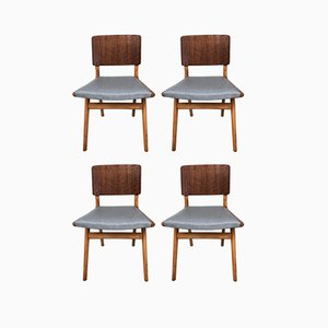 Beech Dining Chairs from Dalescraft, 1950s, Set of 4