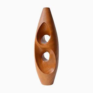 Vintage Modernist Wooden Sculpture, 1972