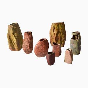 Modernist Ceramic Vases by De Olde Kruyk Milsbeek for Studio Pottery, 1960s, Set of 8