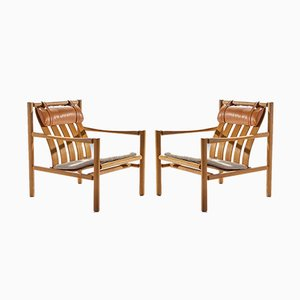 Scandinavian Modern Danish Lounge Chairs by Jørgen Nilsson for J.H. Johanssen's Eftf, 1964, Set of 2
