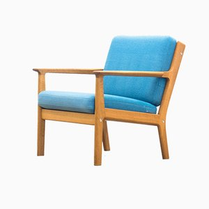 Model GE-265 Danish Oak Lounge Chair by Hans J. Wegner for Getama, 1970s
