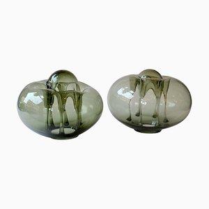 Moderne Skulpturen aus mundgeblasenem Glas von Karel Wuensch, 1970er, 2er Set