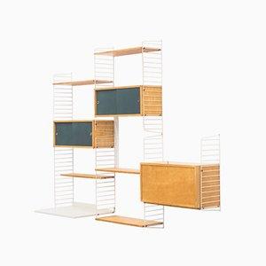 Modern Wandregal im skandinavischen Stil von Kajsa & Nils Nisse Strinning für String, 1960er