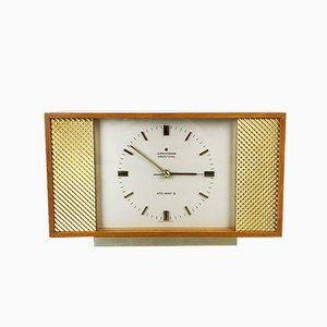 Deutsche Uhr aus Glas & Metall von Junghans, 1960er