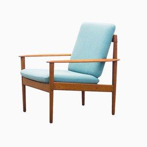 Dänischer Modell PJ56 Sessel mit Gestell aus Teak von Grete Jalk für Poul Jeppesens Møbelfabrik, 1950er