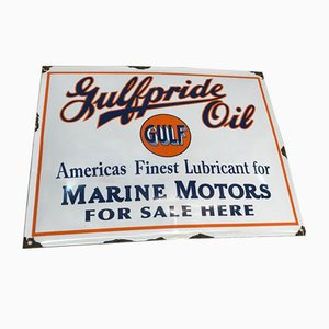 Vintage Enamel Gulf Sign