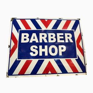 Cartel de barbería vintage esmaltado