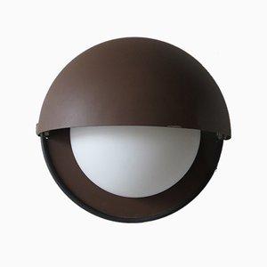 Plafonnier Eclipse Vintage en Verre et Métal de Dijkstra Lampen