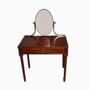 Tocador Mid-Century de latón y espejo, años 60